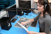 city college broadcasting school student on air