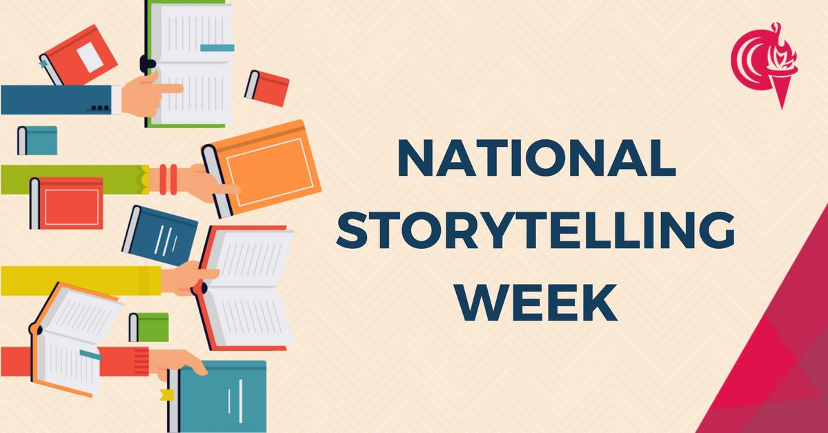 National Storytelling Week At City Collge banner