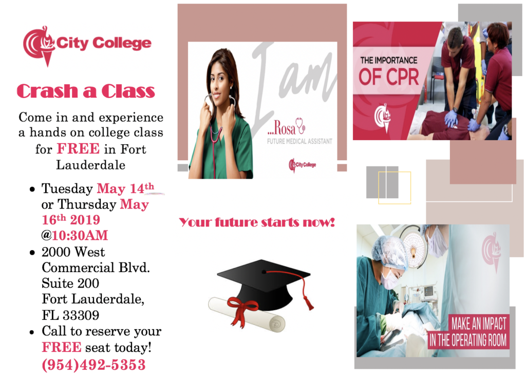 Free Talk Thursday May 14th In >> Fort Lauderdale Crash A Class City College