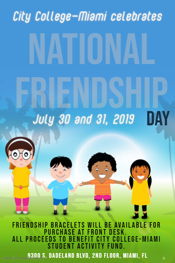 National Friendship Day July 30-21